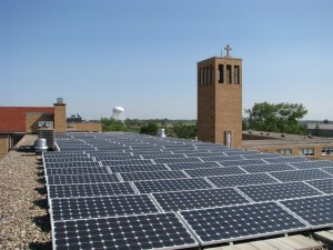 Solar Panel on rooftop